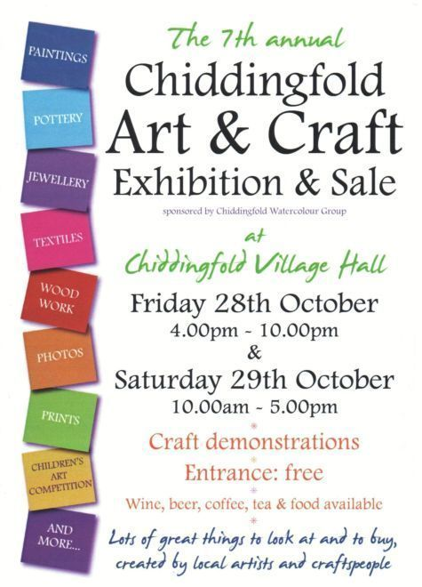 Chiddingfold Art and Craft Exhibition Poster