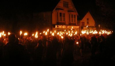 Tourchlight procession by Roberts Stores