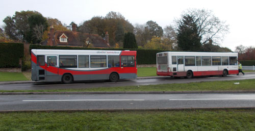 Replacement busses  2 single deckers