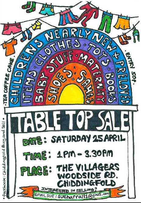 Poster for table top sale