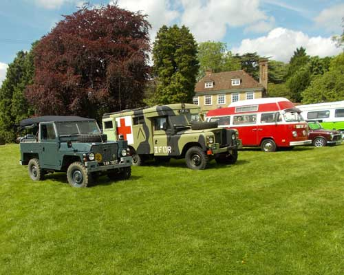 Old Land Rovers and other vechiles